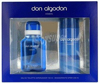 Don Algodón Estuche Colonia Hombre + Desodorante 1u