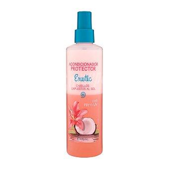 Deliplus Acondicionador cabello protector exotic sin aclarado spray (con filtros uv protege el cabello de las agresiones del sol) Botella de 250 ml