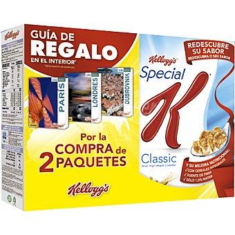 KELLOGG'S SPECIAL K Classic cereales de desayuno con regalo de una guía de viaje pack 2 estuche 500 kg