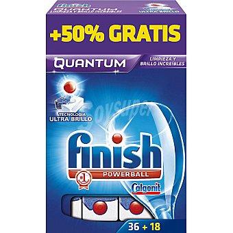 Finish detergente lavavajillas Power Ball Quantum  caja 36 pastillas + 18 gratis