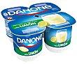 Yogur con sabor a limón pack de 4 uds de 125 gr Danone