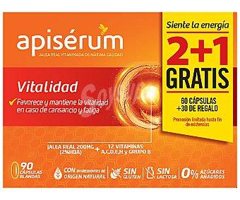 Apiserum Complemento nutricional a base de jalea real vitaminada vitalidad 90 uds
