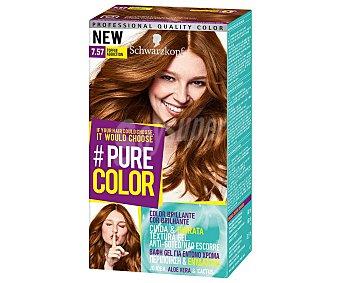 Schwarzkopf Tinte de pelo color toffee addiction, número 7.57 Pure color Pure color