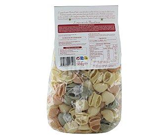 Auchan Lumaconis, pasta de sémola de trigo duro de calidad superior a las espinacas y tomate 500 Gramos