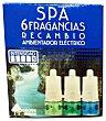 Ambientador electrico recambio 3 aromas (6 sensaciones) spa u 25 cc Bosque Verde
