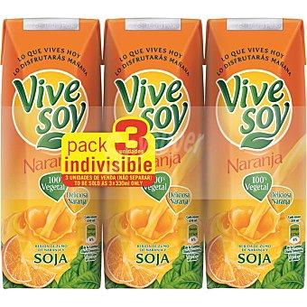 Vivesoy Zumo de naranja y soja Pack de 3x25 cl