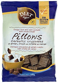 Diet Rádisson Pillows cereales crujientes cacao sin gluten 150 g