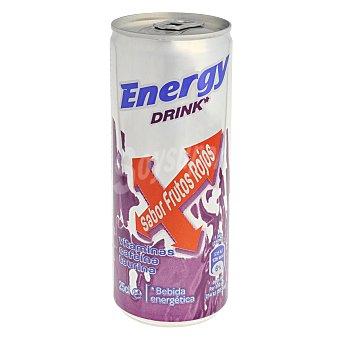Carrefour Bebida energética sabor frutos rojos 25 cl 25 cl