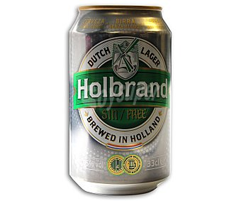 HOLBRAND Cerveza Holandesa de Importación Sin Alcohol Lata 33 Centilitros