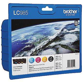 BROTHER LC985VALBP Cartuchos negros + 3 cartuchos de color Pack de 4