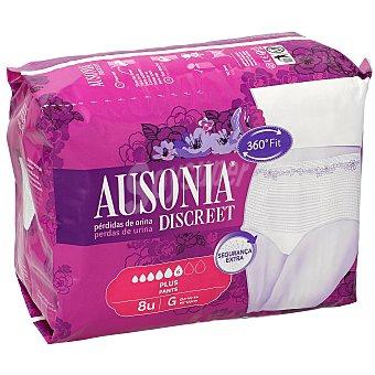 Ausonia Discreet pants de incontinencia plus talla G Paquete 8 u