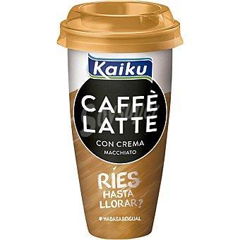 Kaiku con crema macchiato café arábica espresso con leche fresca Caffè Latte Vaso 230 ml