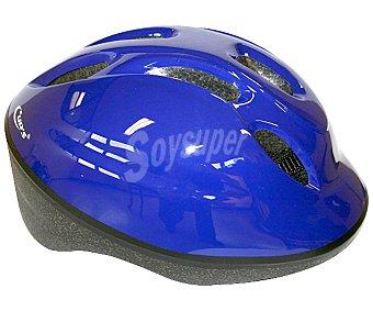CUP´S Casco infantil color azul liso, talla 48-54 1 Unidad