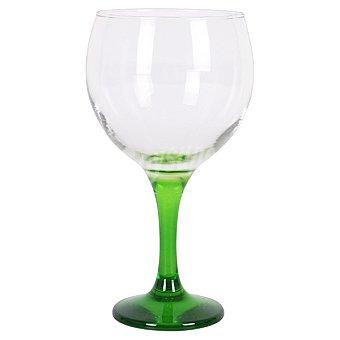 Copa de combinados con pie en color verde 64,5 cl