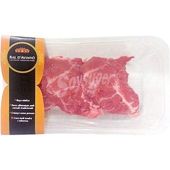 RAL D'AVINYO Carrilada de cerdo sin hueso peso aproximado bandeja 400 g