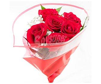 Viveros Bouquet de 6 rosas rojas con tallo de 50-60 centímetros, variedad Ecuador 1 unidad