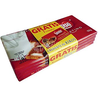 Extrafino Nestlé chocolate con leche s 150 g gratis 1 pack 3 tableta