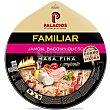 Pizza familiar de jamón, bacon y queso Unidad 580 g Palacios
