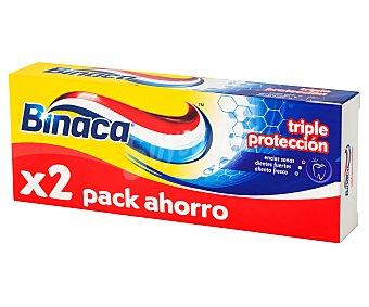 Binaca Pasta de dientes con triple protección 2 x 75 ml