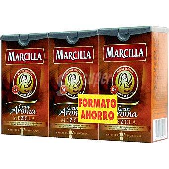 Marcilla Café molido mezcla Pack 3 paquetes 250 g