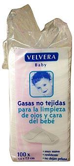 VELVERA Gasa no tejidas (para limpieza de ojos y cara del bebé) CAJA 100 u