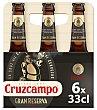 Cerveza rubia gran reserva Botellin pack 6 x 330 ml - 1980 ml Cruzcampo