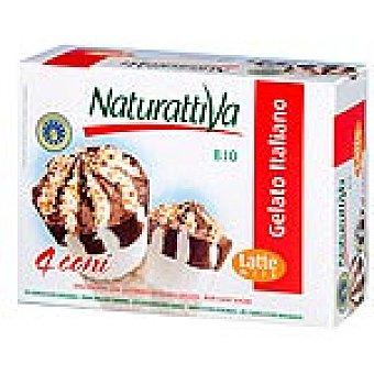 NATURATTIVA Helado conos de vainilla y chocolate estuche 300 g Pack 4 unidades