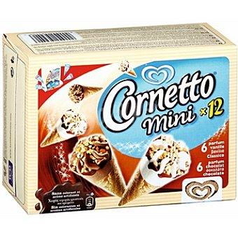 Cornetto Frigo Mini surtido de conos de helado con nata y chocolate estuche 335 ml 12 unidades