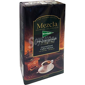 El Corte Inglés Cafe molido mezcla 50-50 paquete 250 g