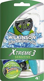 Wilkinson Maquinilla de afeitar desechable triple hoja Blister 4 uds