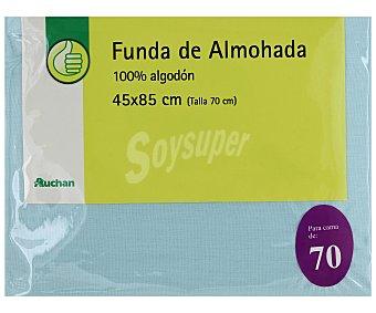 Productos Económicos Alcampo Funda de almohada, color azul, 70 centímetros 1 Unidad