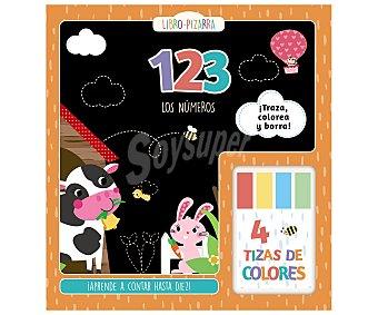 Bruño Libro pizarra 123, Los números con 4 tizas de colores, vvaa. Género: actividades, colorear. Editorial Bruño.