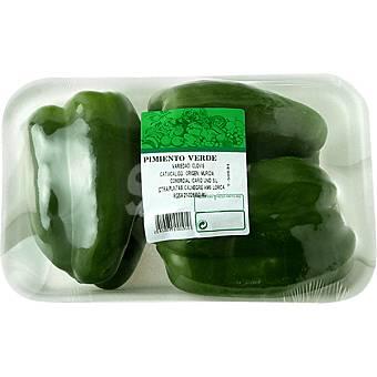 Pimiento verde gordo Bandeja de 800 g peso aprox.