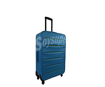 Doudone Maleta de 4 ruedas, con estructura flexible de polyester de color azul, medida de 66 centímetros 66cm