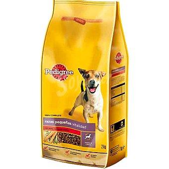 PEDIGREE RAZAS PEQUEÑAS Buey con verduras y arroz para perro bolsa 2 kg Bolsa 2 kg