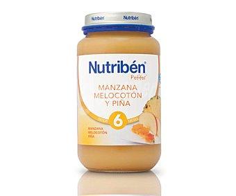 Nutribén Tarrito de manzana, melocotón y piña a partir de 6 meses 250 g