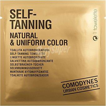 Comodynes Self Tanning Natural & Uniform Color toallita autobronceadora 1 unidad para zona de cara cuello y el escote 1 unidad
