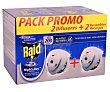 Insecticida volador electrico Night & Day moscas y mosquitos Pack 2 aparatos + 2 recambio Raid