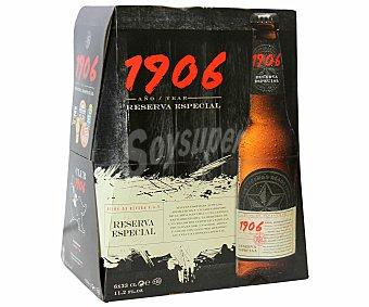 Estrella Galicia Cerveza Reserva 1906 Botella Cristal Pack6x33 cl