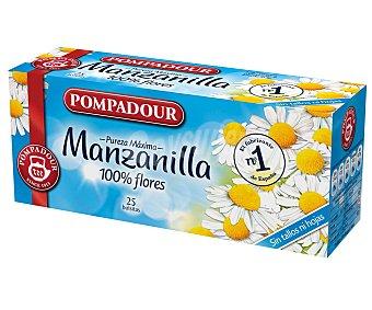 POMPADOUR Manzanilla  estuche 25 sobres