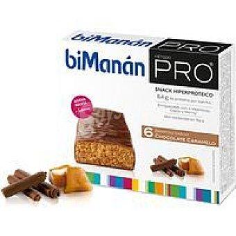 BIMANAN Pro Barritas de chocolate-caramelo Caja 6 unid