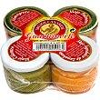 salsas diversas (almogrote, mojo palmero, mojo cilantro y mojo agridulce)  pack 4 frasco 40 ml Guachinerfe