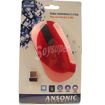 ANSONIC MS-270OR Ratón inalámbrico en color rojo