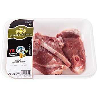 Casa ganaderos Cordero ternasco pierna IGP Ternasco de Aragón peso aproximado Bandeja 1,1 kg