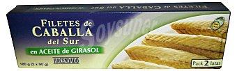 Hacendado Caballa sur filete aceite girasol Pack 2 uds (130 g peso escurrido )