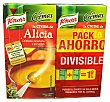 Crema líquida alicia (calabaza, zanahoria y guisantes) 2 unidades de 500 cc (1L) Knorr