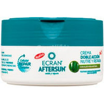 ECRAN Aftersun crema doble acción nutre y calma aloe 200ml