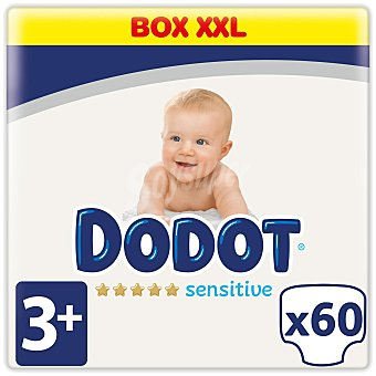 Dodot Sensitive Pañales Talla 3+ (7-11 kg.) 60 ud