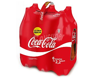 Coca-Cola Refresco de cola Pack 6x2 litros