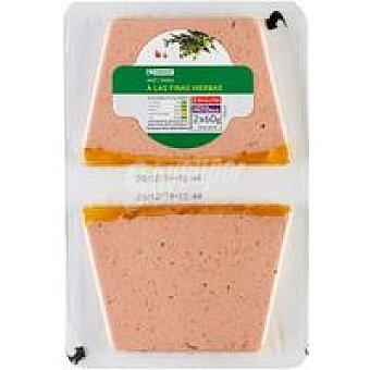 Eroski Paté de ave a las finas hierbas Pack 2x60 g